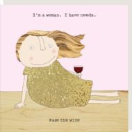 Rosie Made a Thing 'Pass The Wine' Card